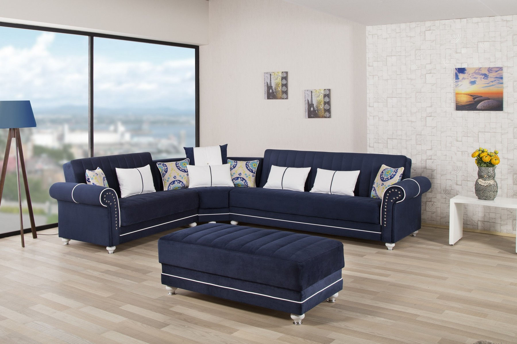 Royal Home Blue Sectional Sofa