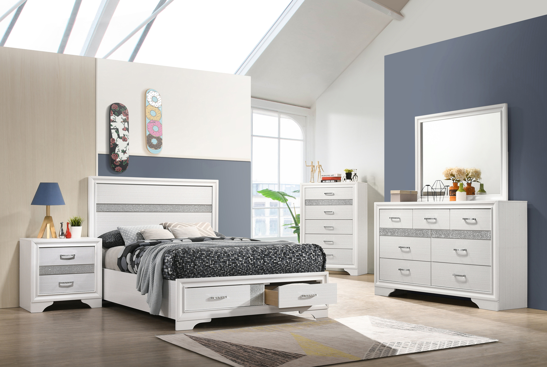 Image result for bedroom set with storage full