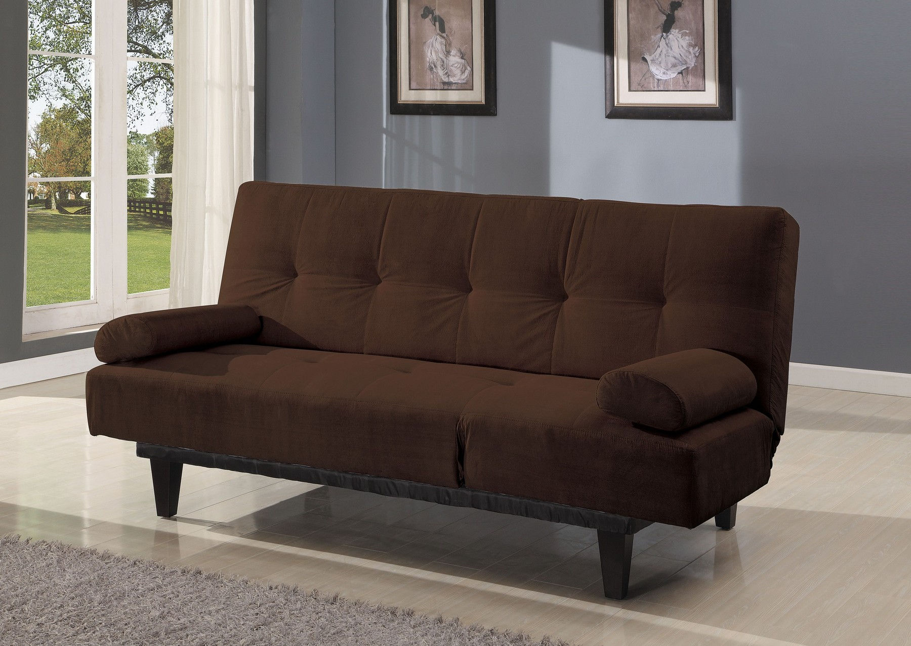 - Cybil Brown Sofa Bed 05855W-BR Acme Corporation Sleeper Sofas