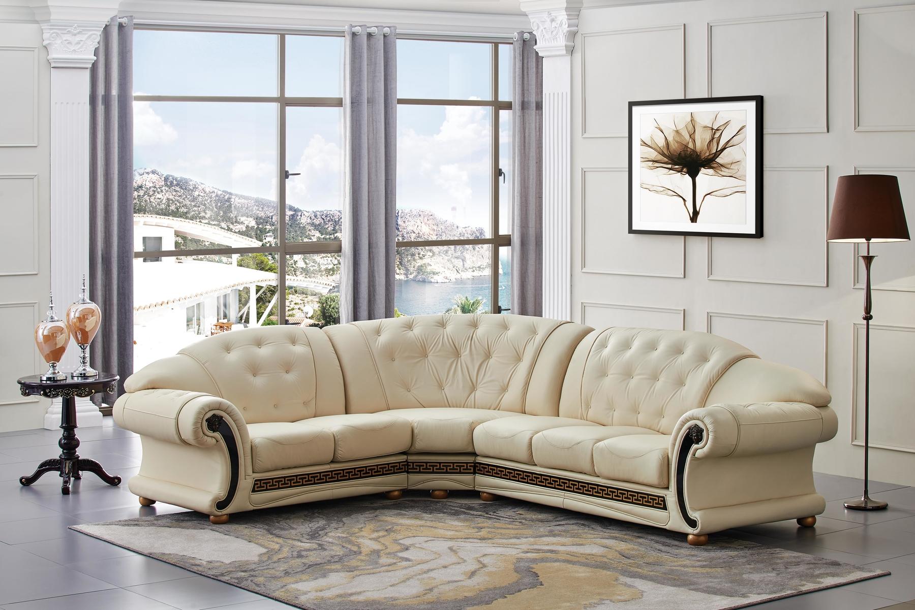 Phenomenal Versace Lf Ivory Sectional Sofa Creativecarmelina Interior Chair Design Creativecarmelinacom