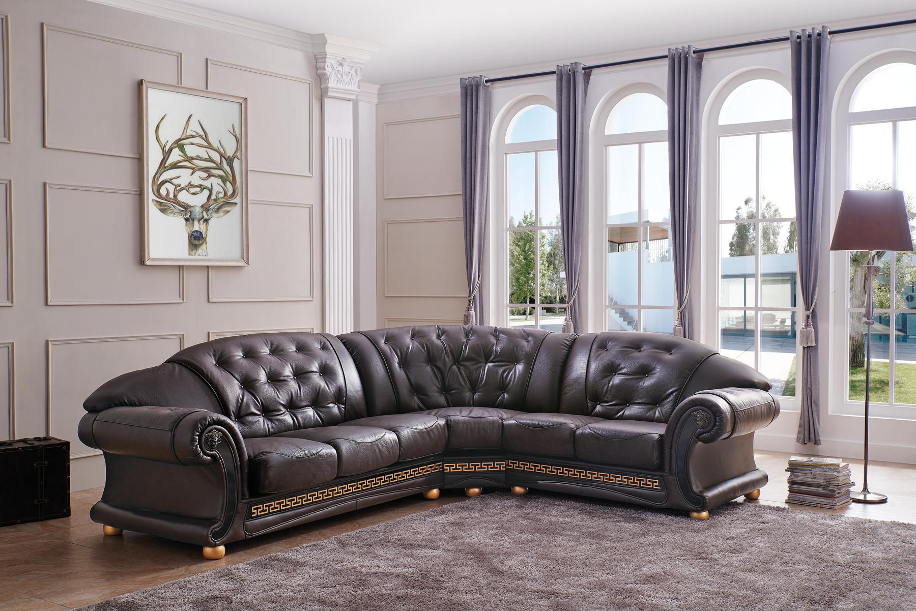 Incredible Versace Rf Brown Sectional Sofa Uwap Interior Chair Design Uwaporg