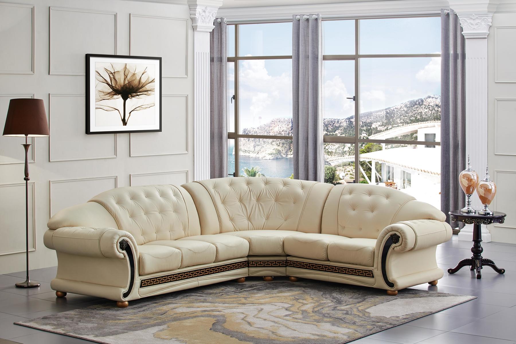 Miraculous Versace Rf Ivory Sectional Sofa Creativecarmelina Interior Chair Design Creativecarmelinacom