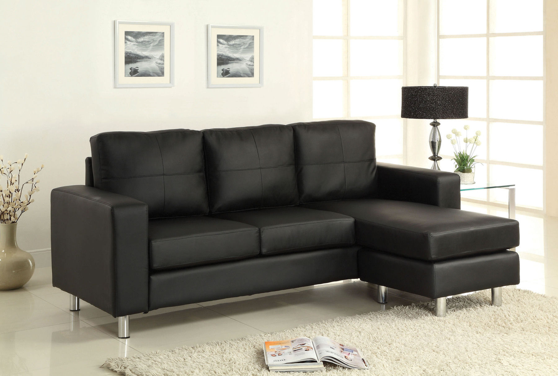 Cool Avon Black Sectional Sofa Gmtry Best Dining Table And Chair Ideas Images Gmtryco