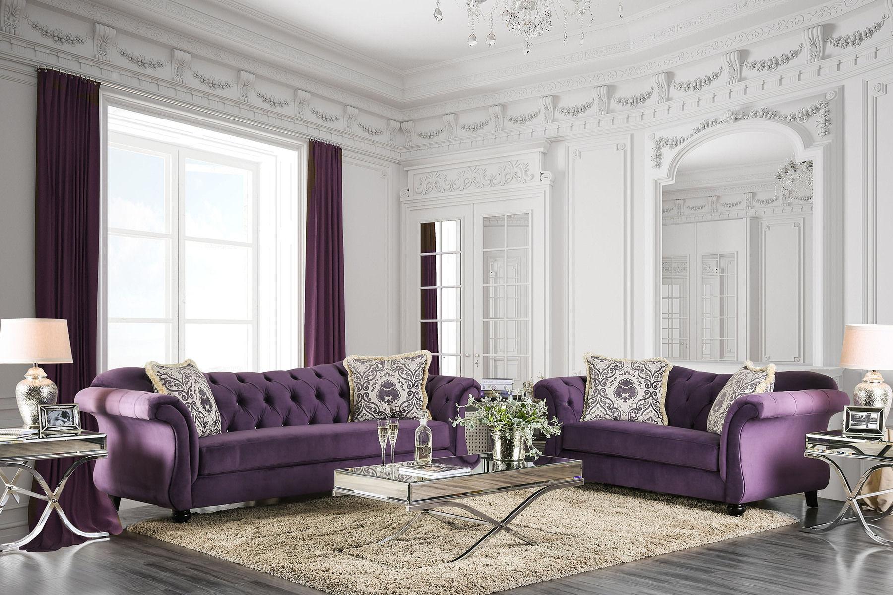 Antoinette Purple Sofa