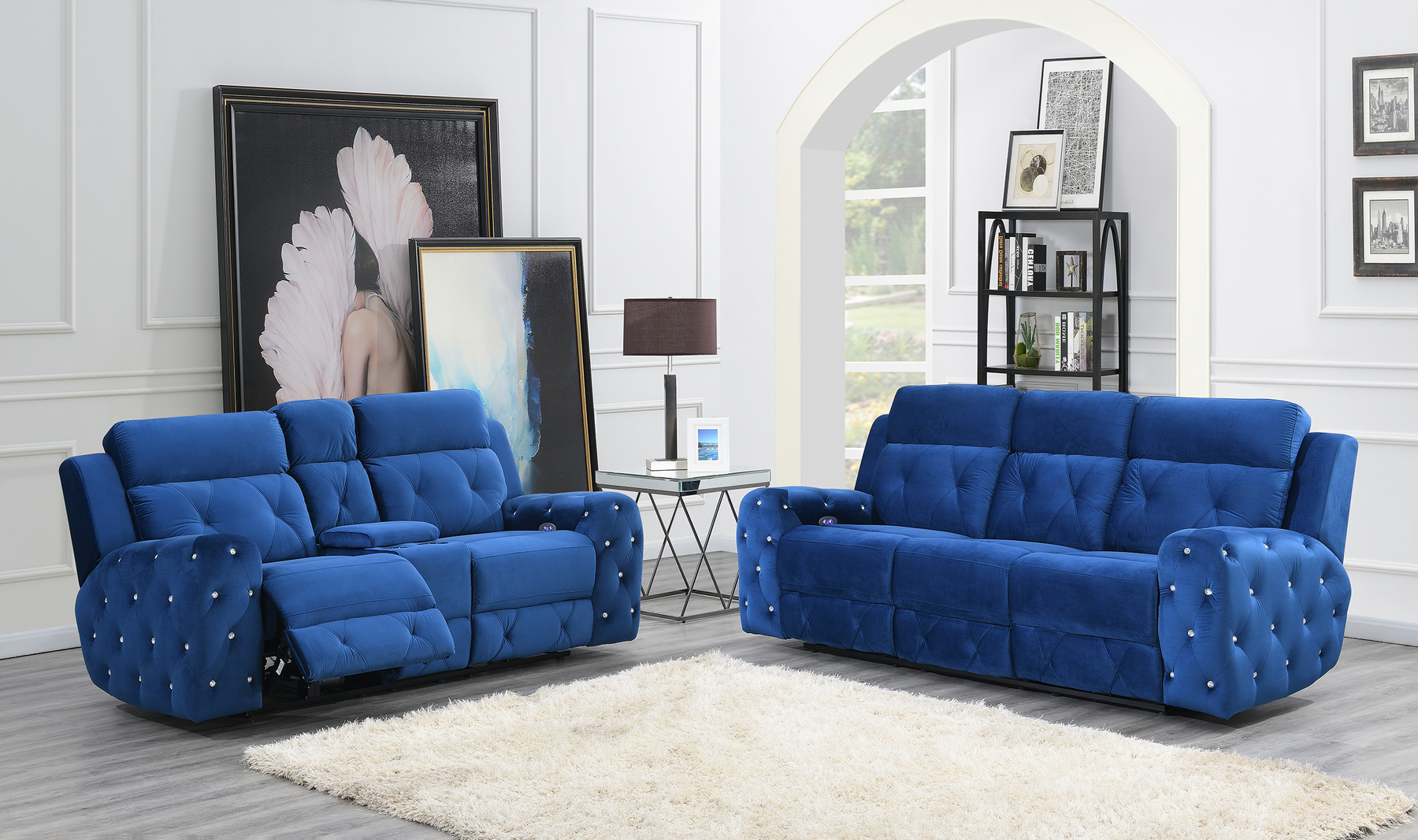 Incredible G8311 Blue Sectional Sofa Evergreenethics Interior Chair Design Evergreenethicsorg