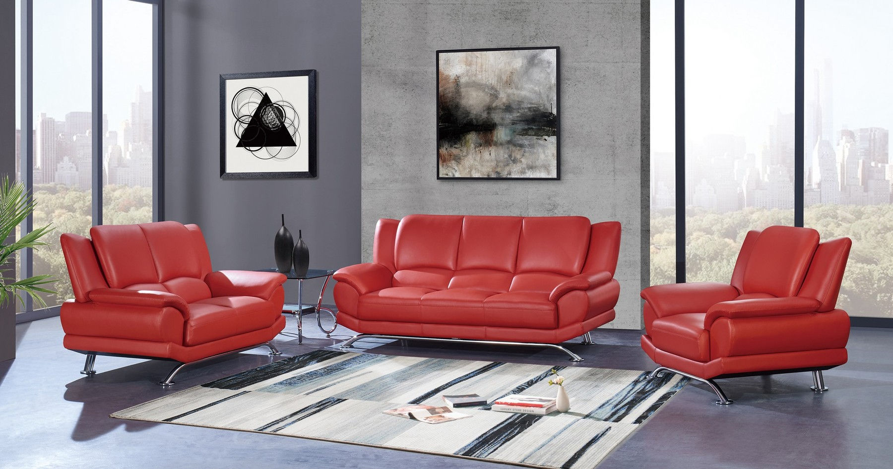 G9908 Red Sofa