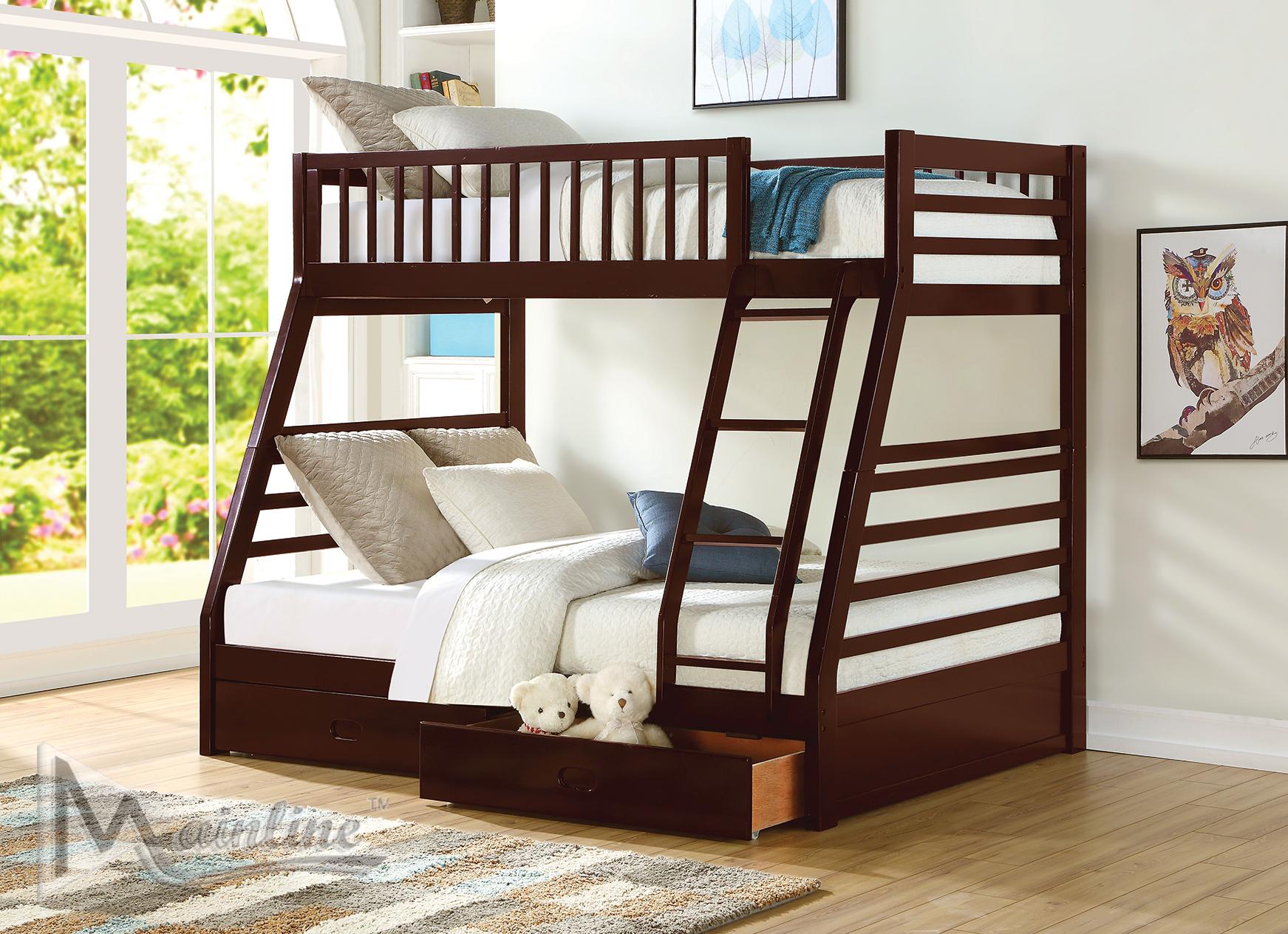 Woodstock Espresso Full Size Bed 98060 Mainline Inc Kids Bedroom Furniture Comfyco Furniture