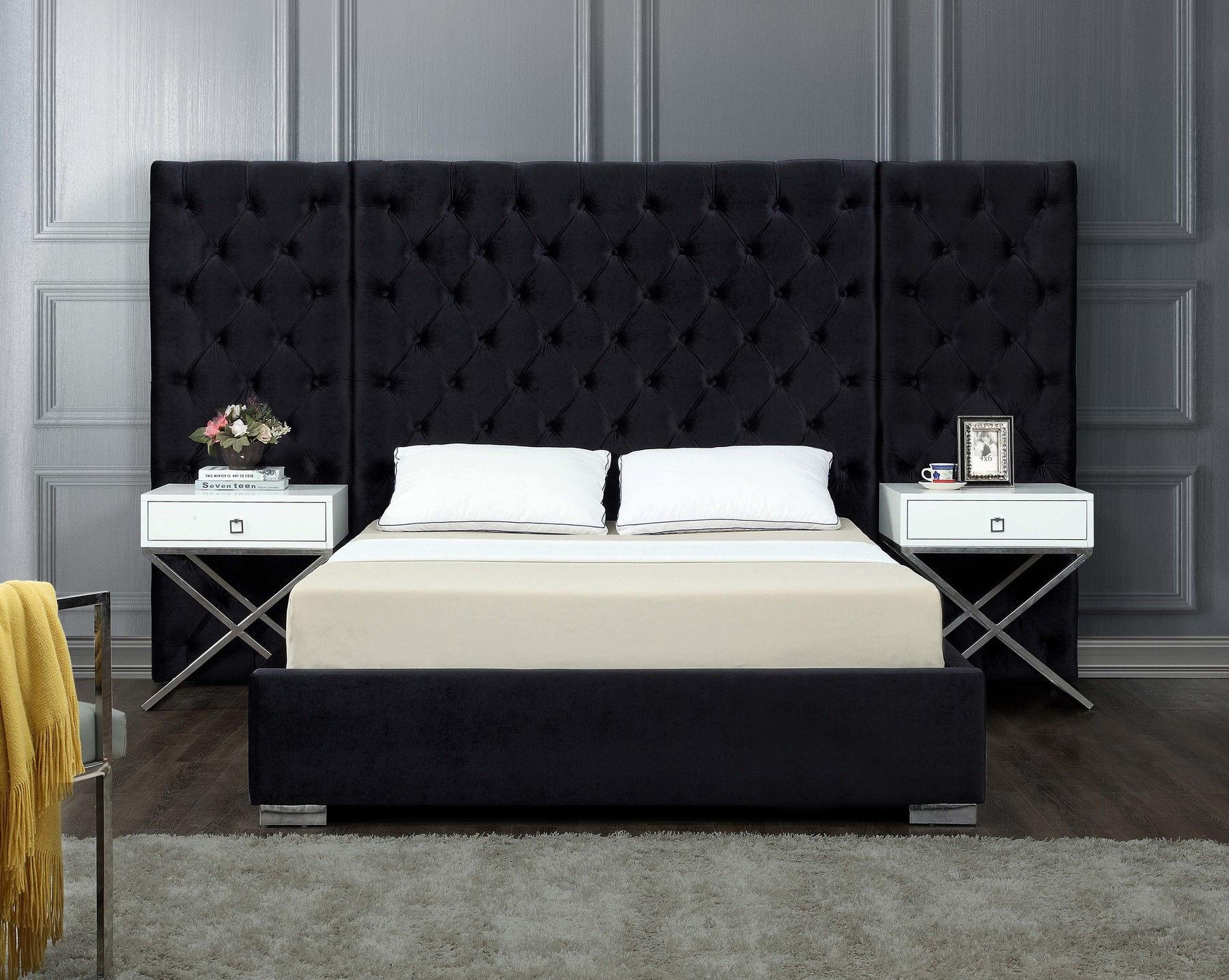 Grande Black King Size Bed Grande Meridian Furniture King Size Beds Comfyco Furniture