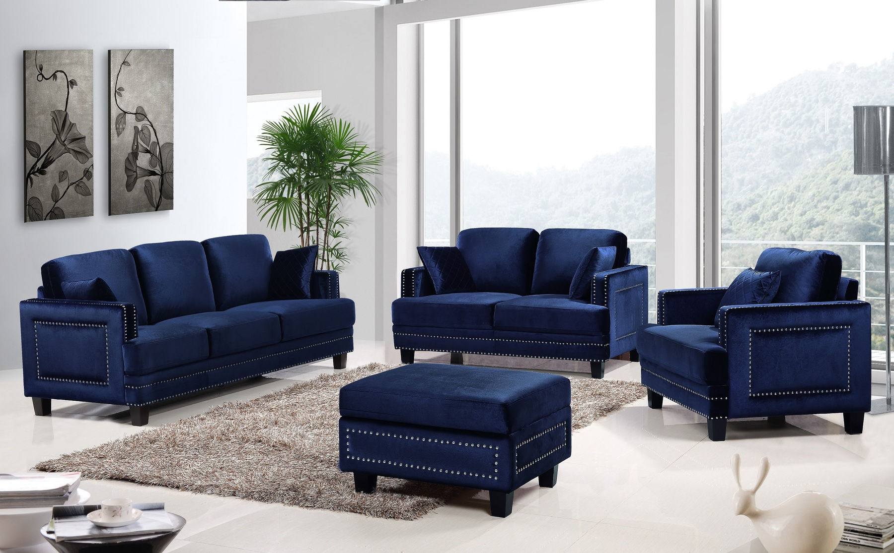 Ferrara Navy Sofa