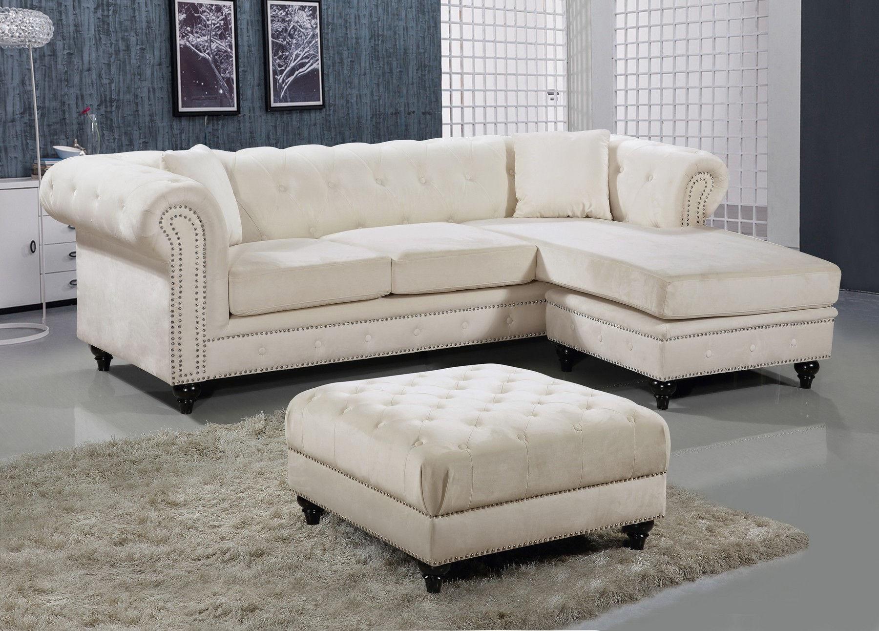 Fine Sabrina Cream Sectional Sofa Ottoman Uwap Interior Chair Design Uwaporg