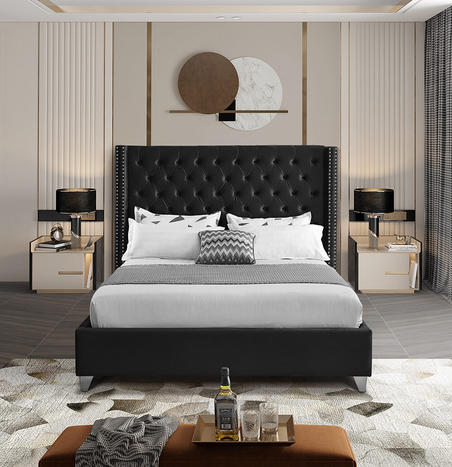 Aiden Black King Size Bed