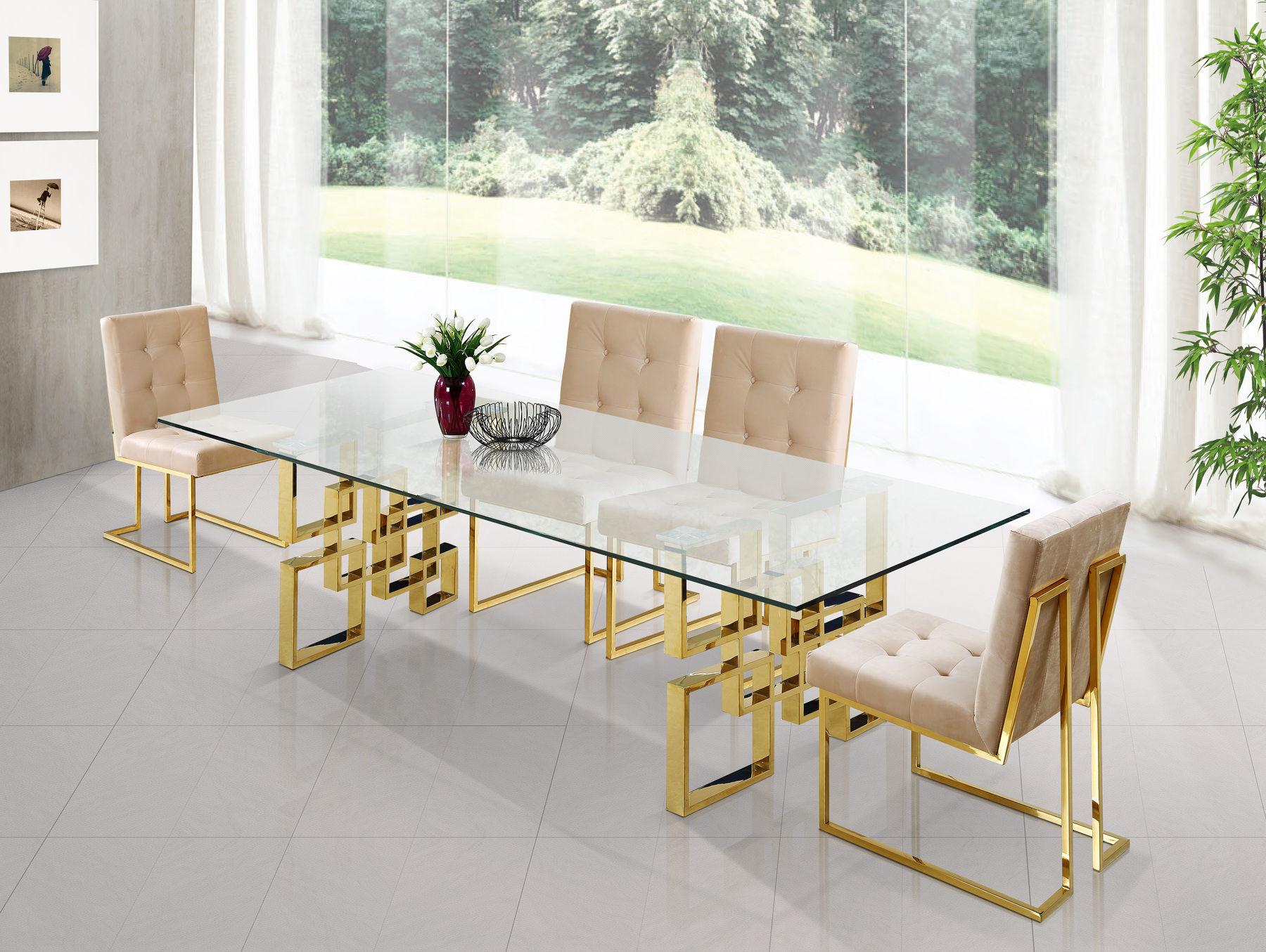 Meridian Furniture Dining Room Sets, Gold Dining Room Sets