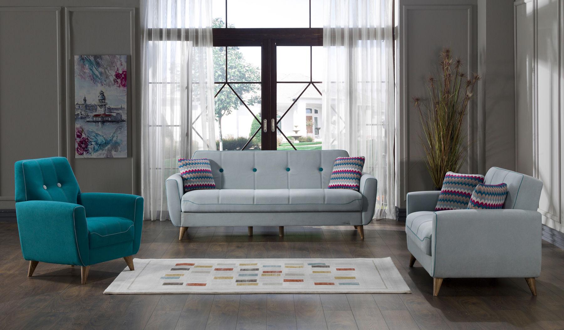 Nora Blue Sofa